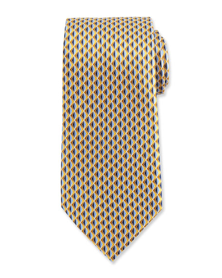 Pair this tie with your favorite business-professional ensemble to refresh and brighten your day-to-day look. - Ermenegildo Zegna Neat 3D Diamond           Printed Silk Tie                           bergdorfgoodman.com                                            $195