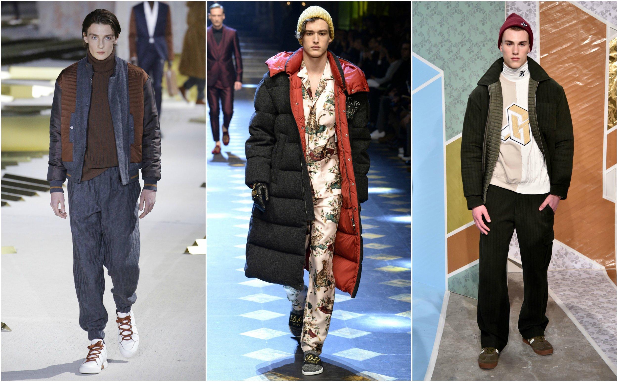 From left to right:  Ermenegildo Zegna ,  Dolce & Gabbana , and  Garciavelez
