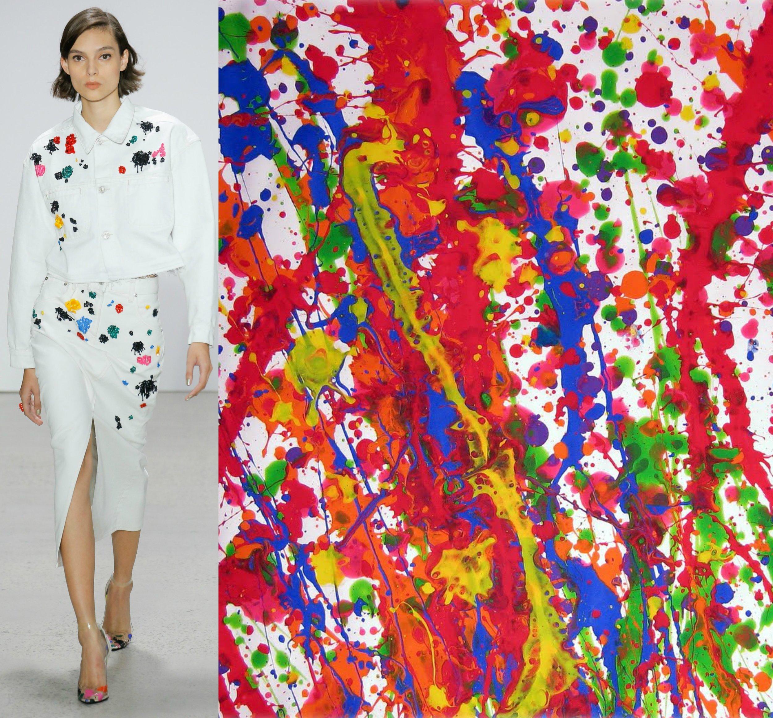 Oscar de la Renta - Jackson Pollock