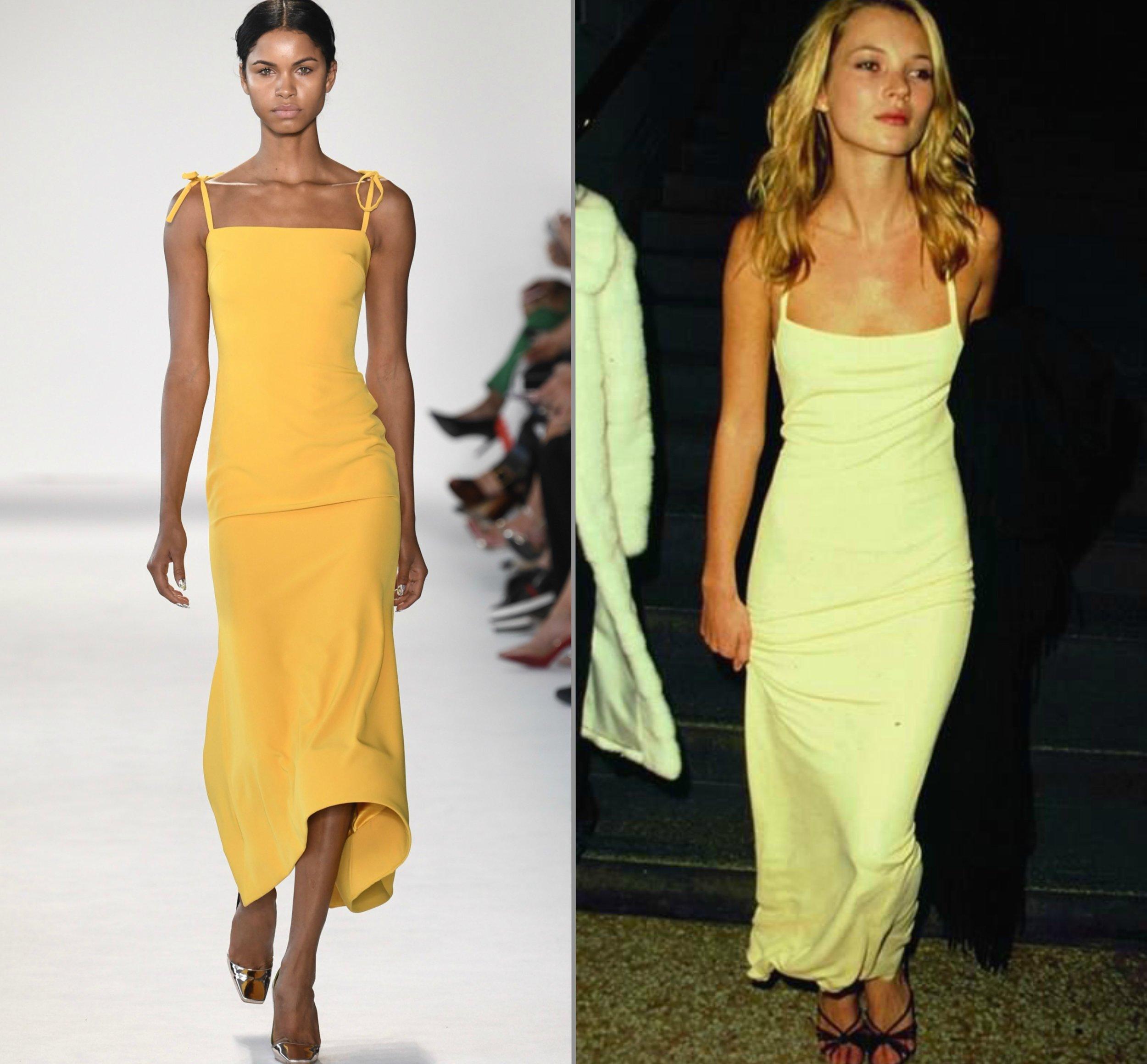 Christian Siriano SS18 | Kate Moss in Calvin Klein