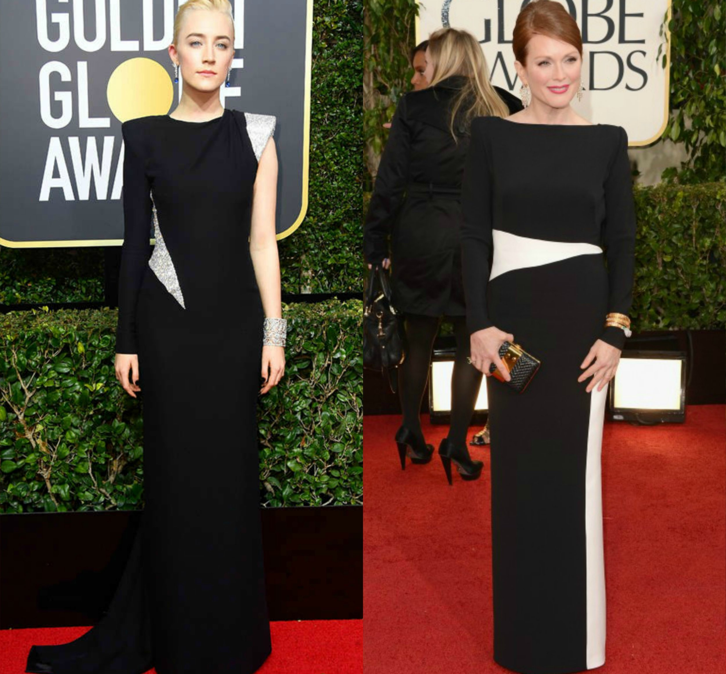 Sairose Ronan- Versace 2018 | Julianne Moore- Tom Ford 2013