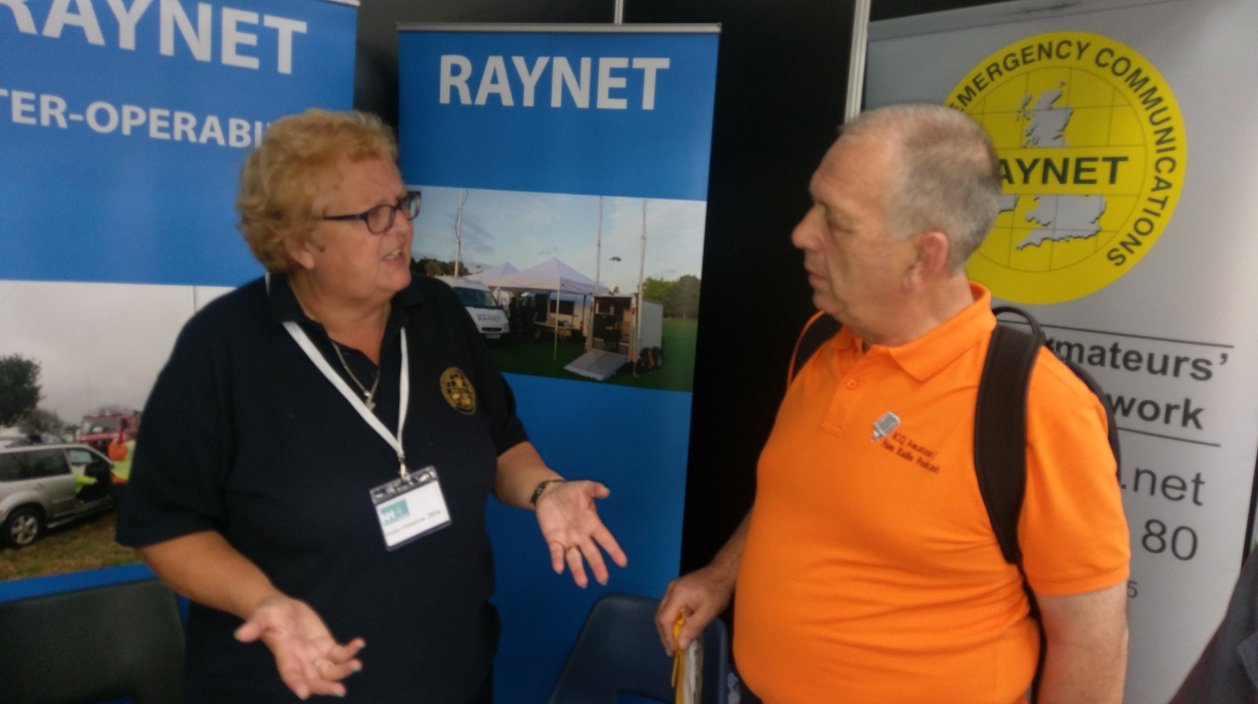 Martin Butler (M1MRB / W9ICQ) with RAYNET Chairperson Cathy Clark