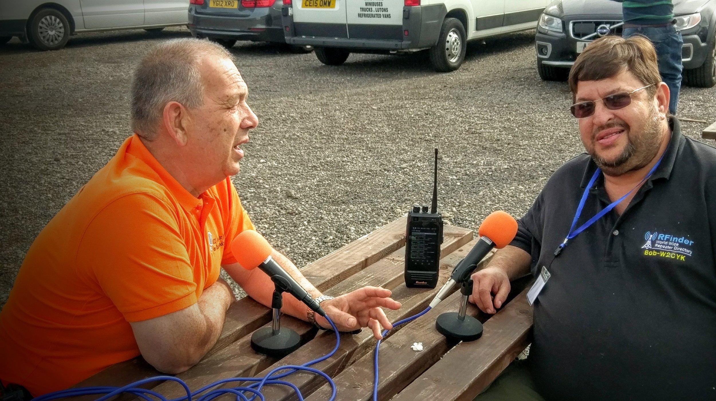 Martin Butler (M1MRB / W9ICQ) interviewing Bob W2CYK from RFinder