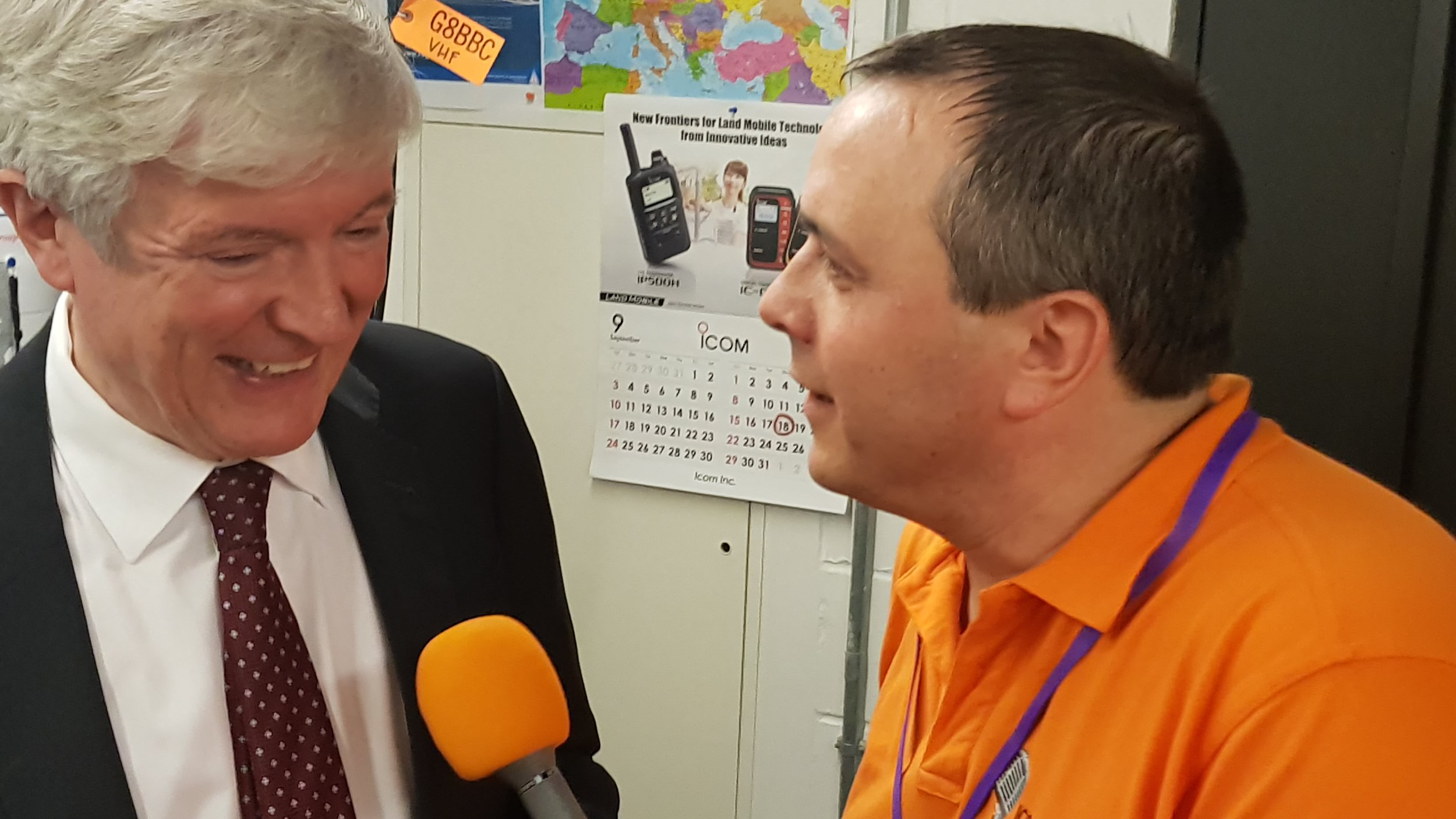 Colin M6BOY interviewing BBC Director General Lord Tony Hall