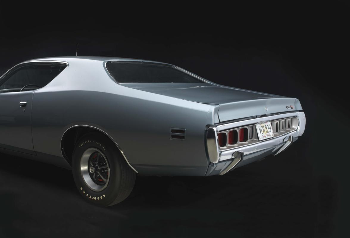 71 CHARGER 440 gunmetal left rear.jpg
