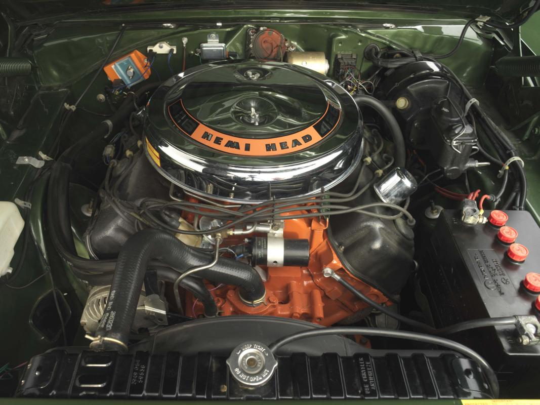 69 green Hemi Charger engine.jpg