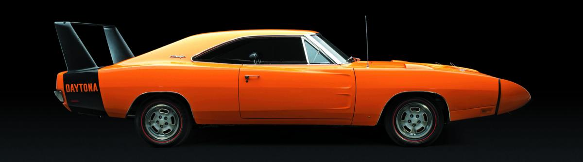 Dodge Charger Daytona 1969 orange profile.jpg