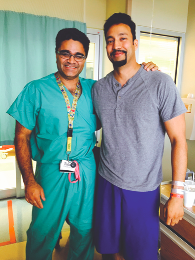 Surgeon Anil Paramesh and Dr. Rizwan Badar