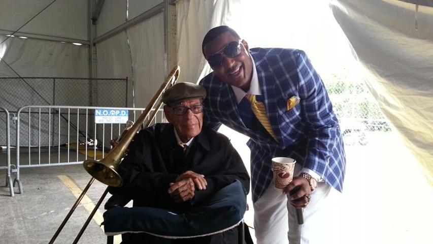 with trumpeter Lionel Ferbos (101 yrs old)