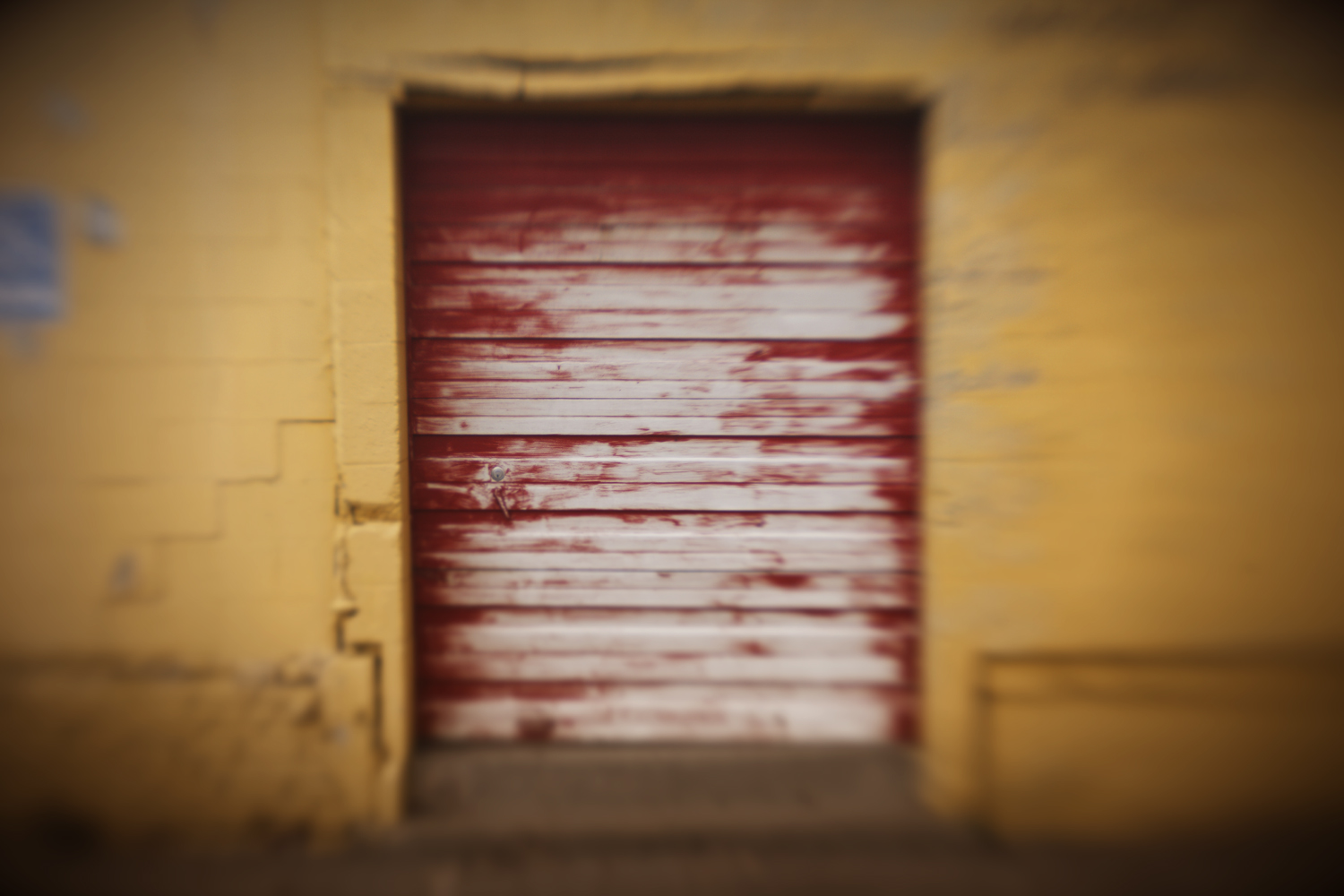 Red Overhead Door