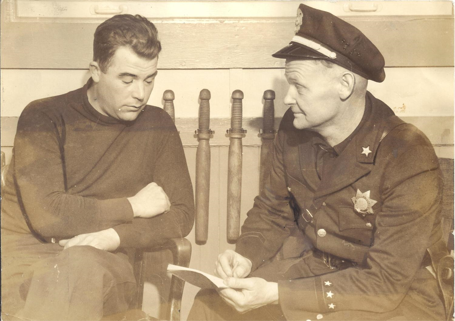 Kidnapped Officer Dewey with Chief Kane - 5-1-34..jpeg