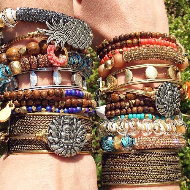 Arm party 🎉 #jewelsondeck #morethemerrier #stackemup #gemellijewelry #melvin #jennybird #bourbonandboweties #natalieb