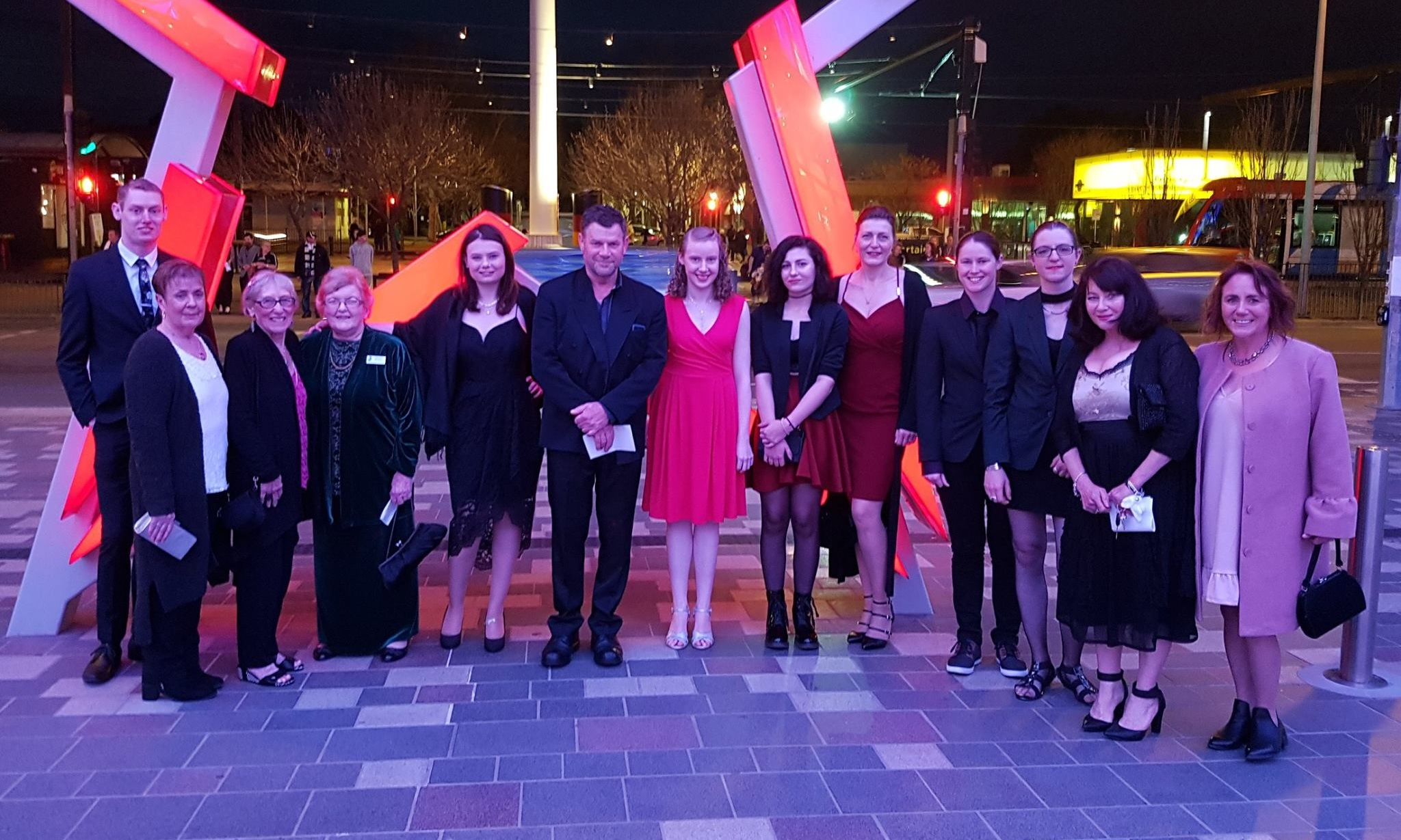 The cast and crew of  Sweeney Todd  at the 2017 ATG Curtain Call Awards