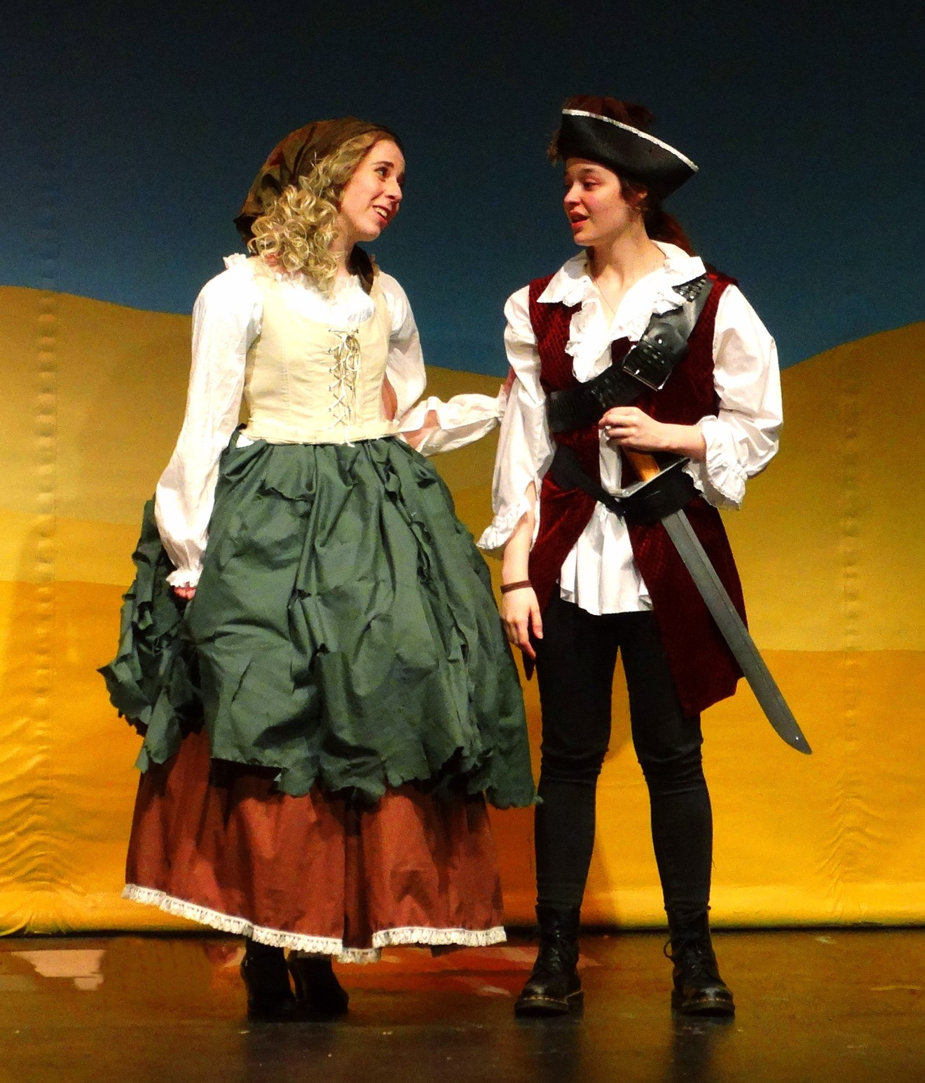 Cinderella (Kiara Wiese) and Frederic (Jemmah Sims)