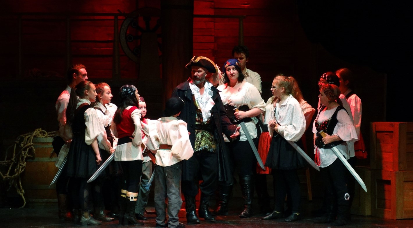The evil Pirate King (Mick McKinlay) and his band of pirates.