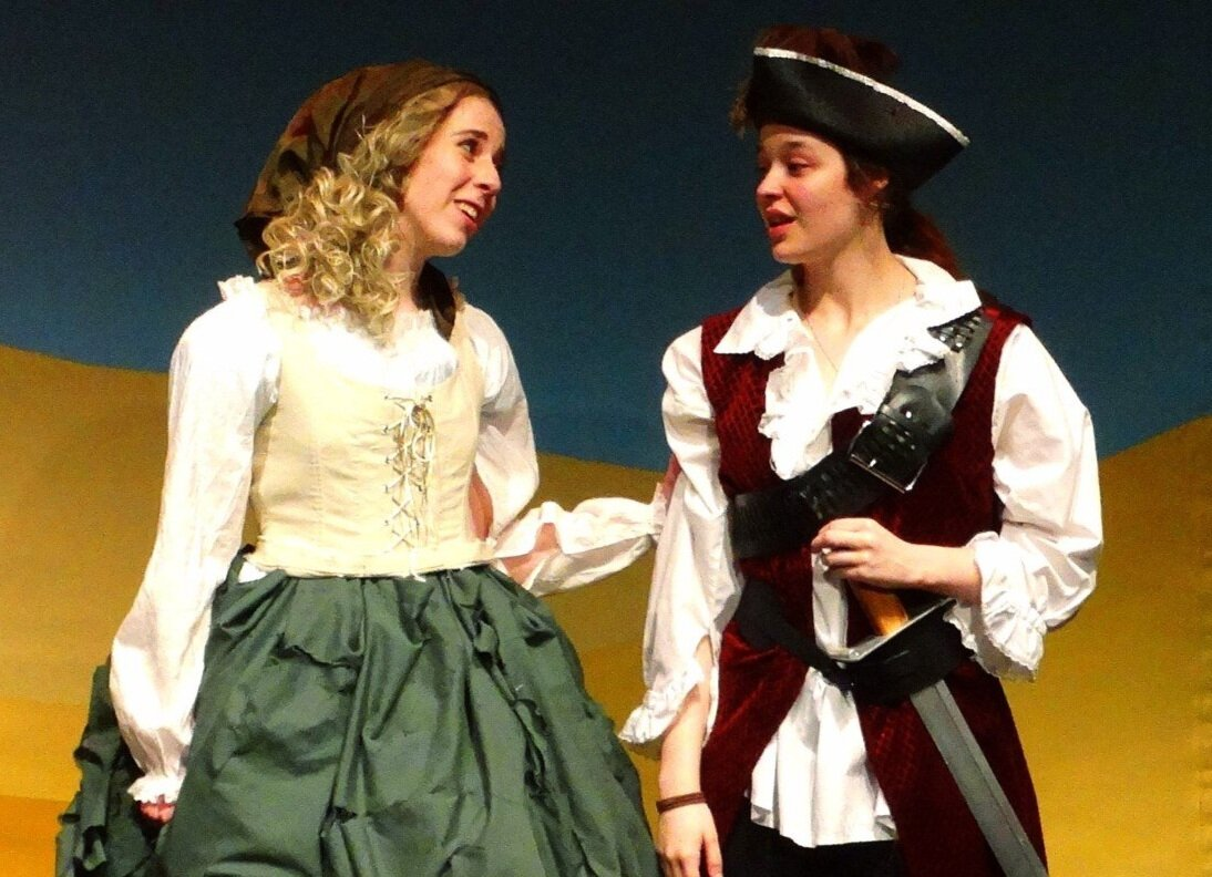 Kiara Wiese and Jemmah Sims in  Cinderella and the Pirates  [SCCAS]