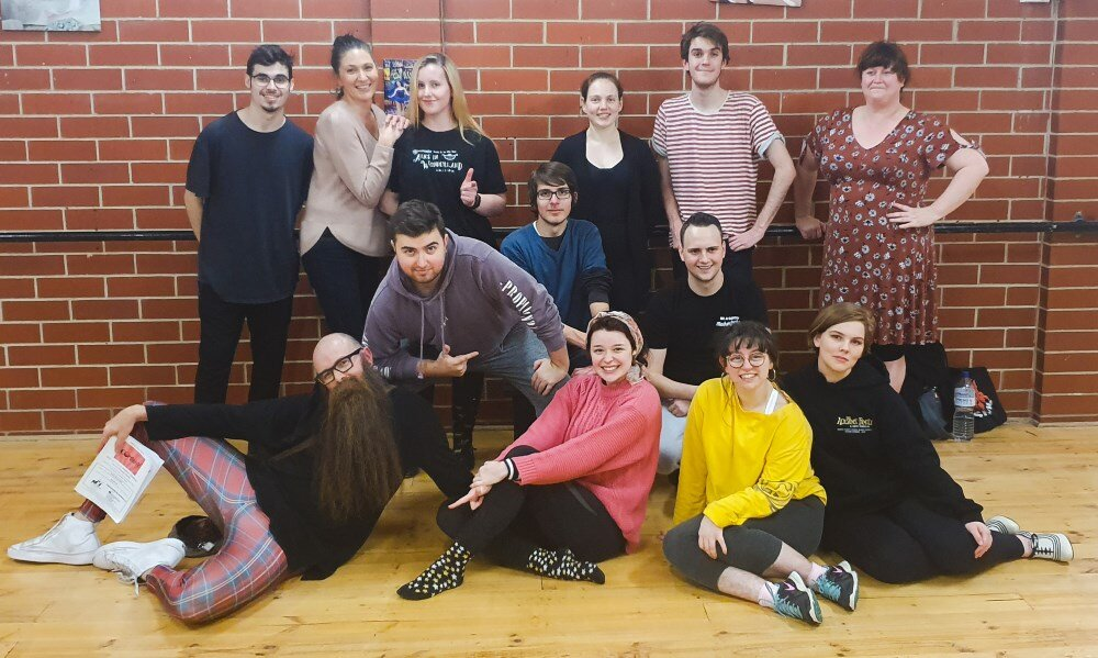 The cast of SCCAS's  Company .