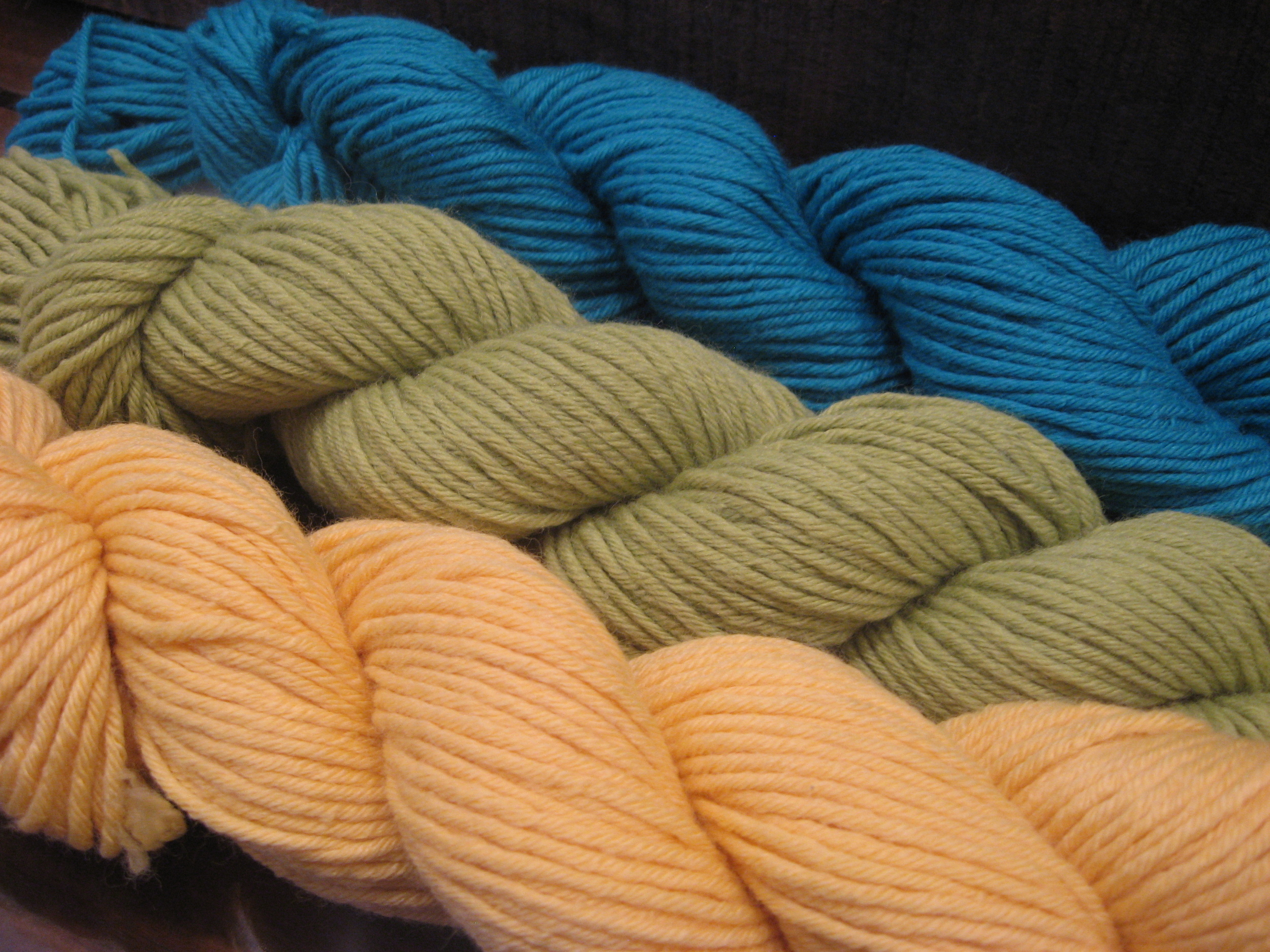 Let's say you (or your knitter) have three colors, and you want a fourth.