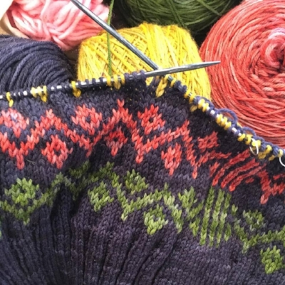 Ursula by Kate Davies in Kettle Dyed Sock Yarn