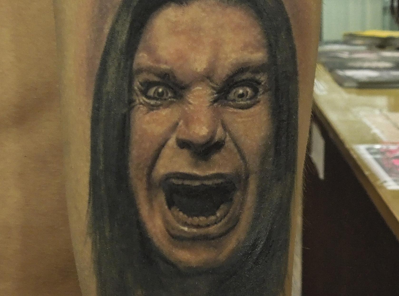 Ozzy Osbourne portrait tattoo