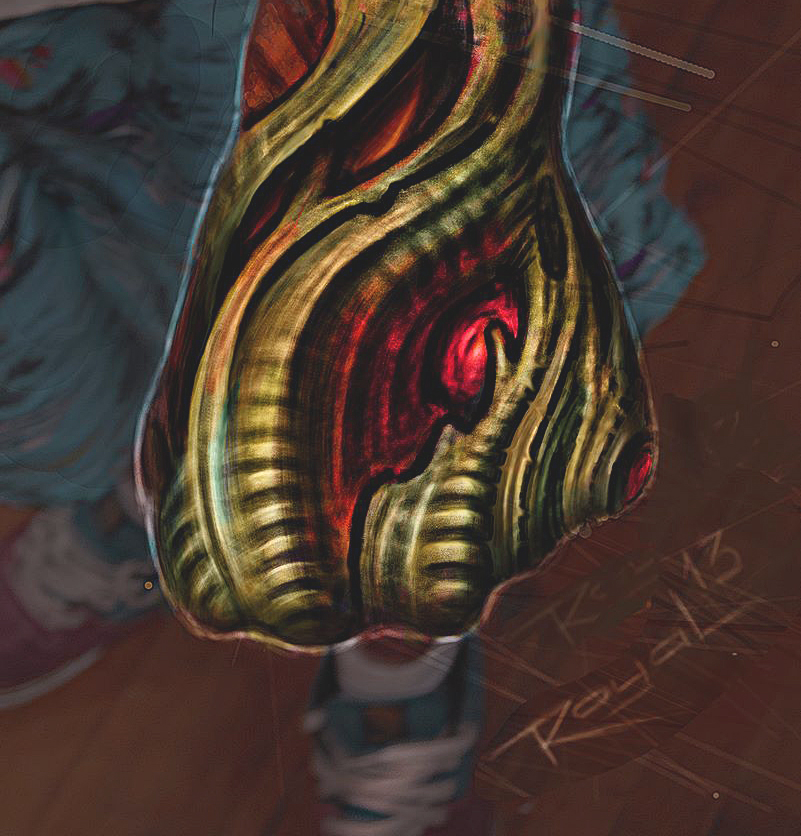 biomechanical design for hand tattoo