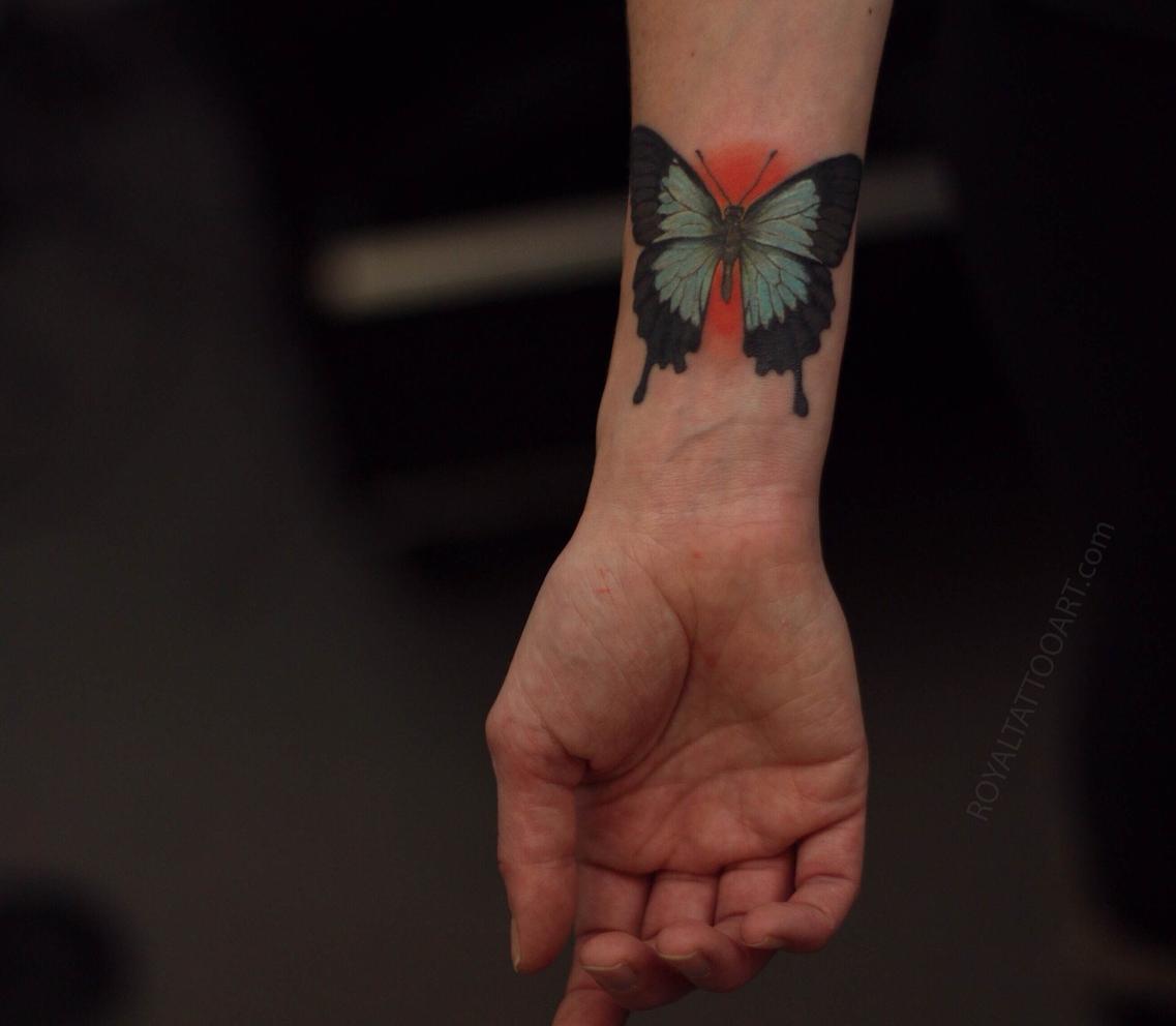 blue australian butterfly tattoo ulysses
