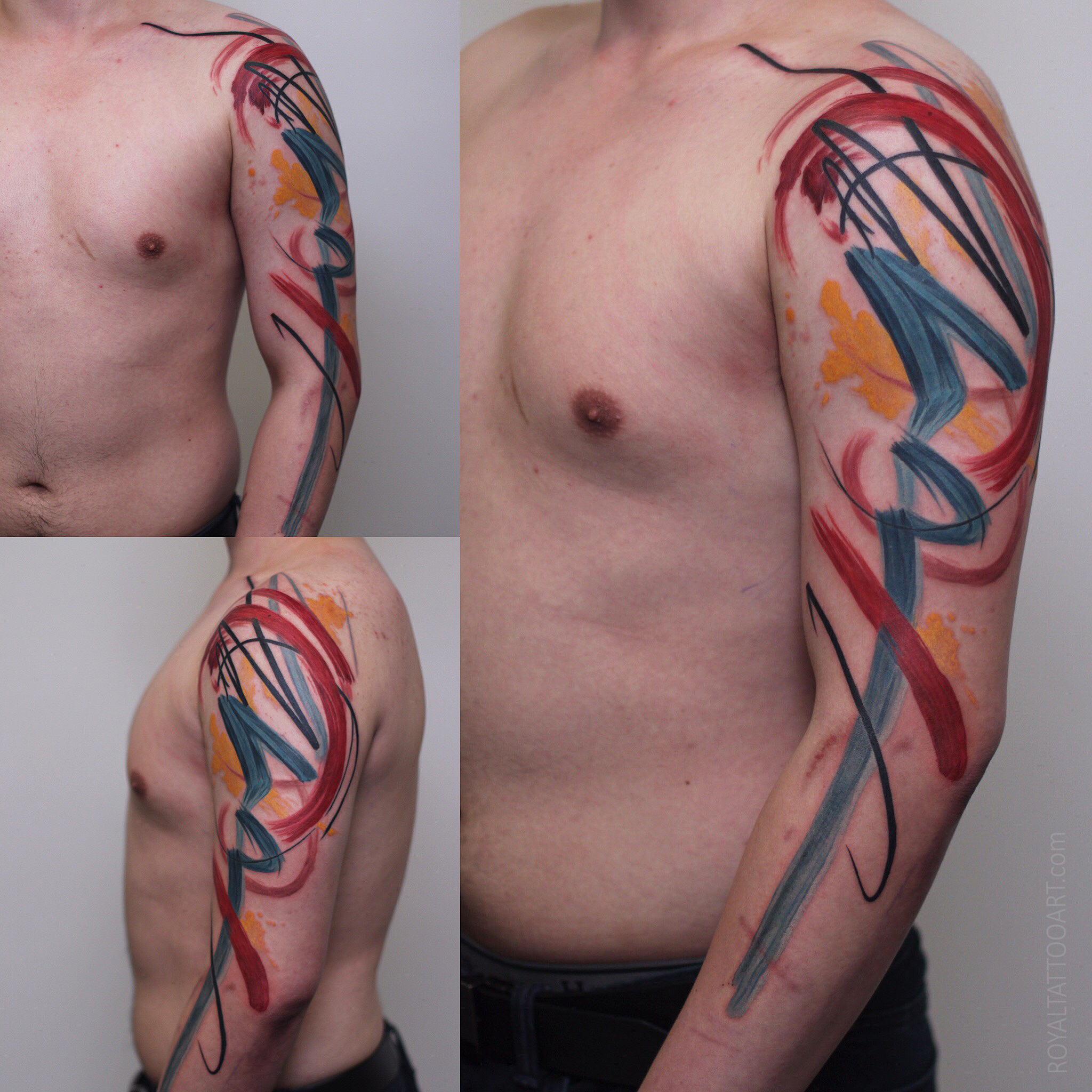 abstract brush stroke watercolor tattoo nyc best new york artist