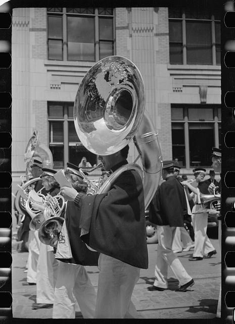 Tuba player from Butte Montana,  via