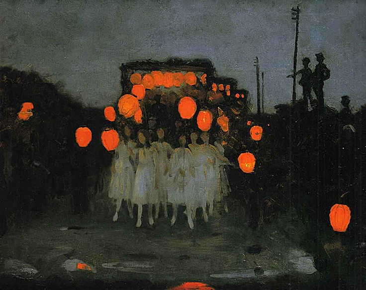 Thomas Cooper Gotch, The Lantern Parade,  via