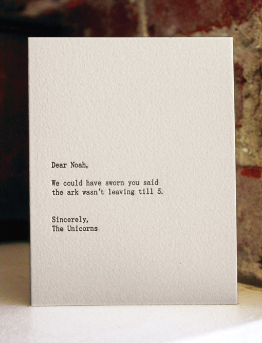 photo via  Sapling Press . Cute cards!