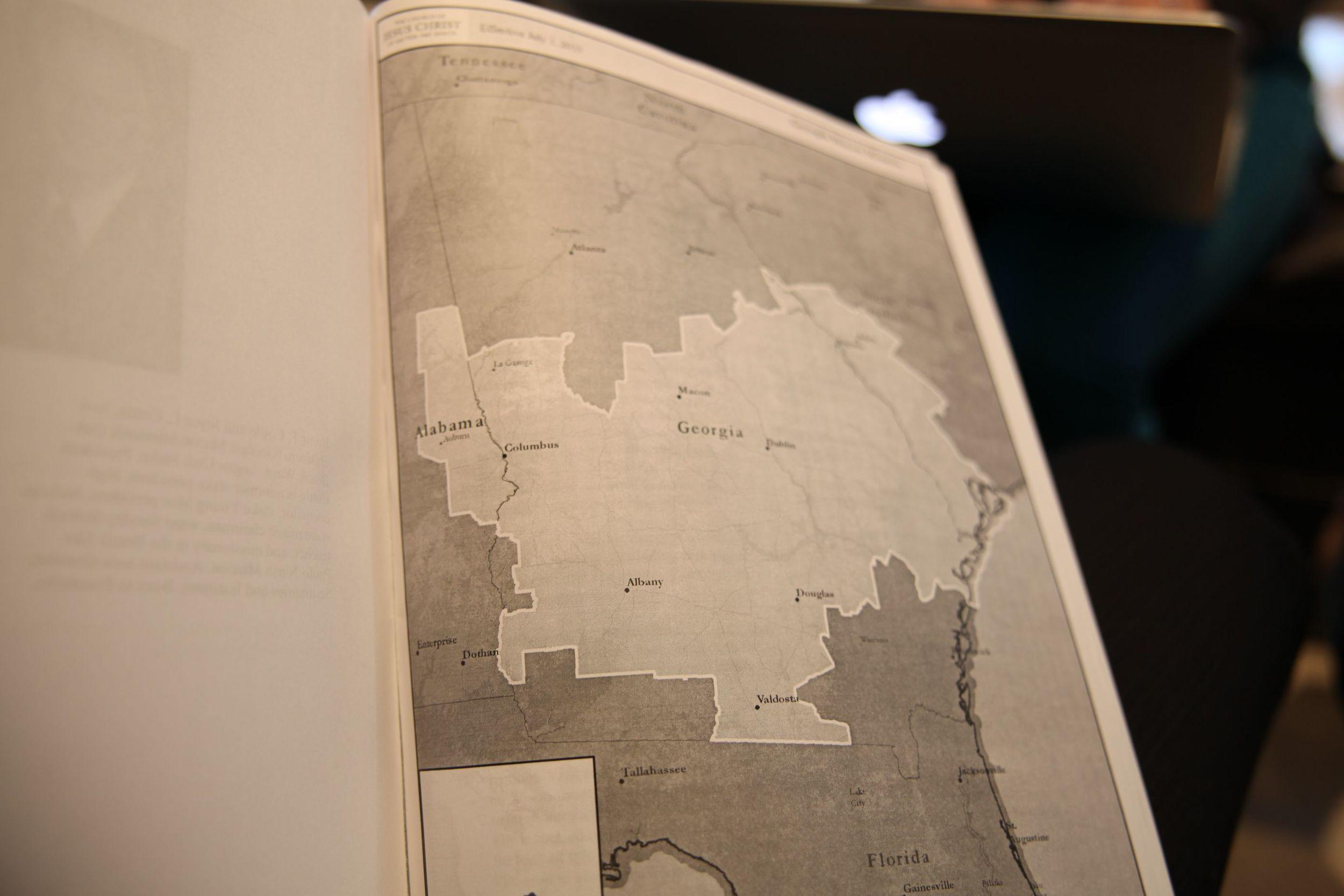 The mission includes parts of Georgia, Alabama, and South Carolina including Savannah, Hilton Head, Macon, and Auburn