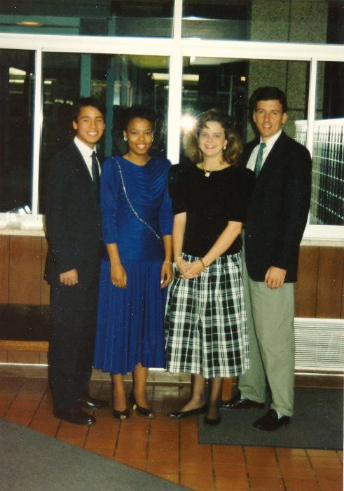 Gena and I (and our dates) before Preference. Dude, I totally married my date!