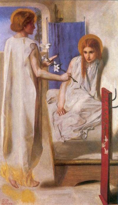 Annuniciation, Dante Rossetti