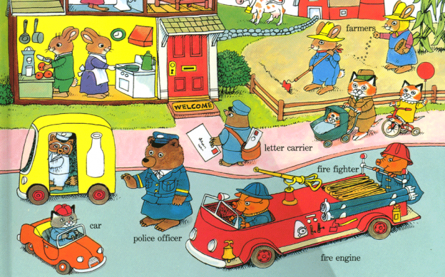 Gratuitous Richard Scarry picture placement. I have Busytown nostalgia. My kids loved these books.