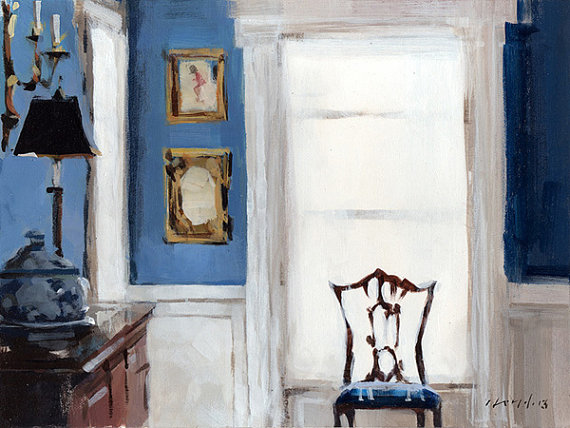 Antique Chair Window Light by David Lloyd (I love his work and etsy store. Click the painting to see more.)