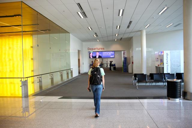 Lauren leaving for India, 2013