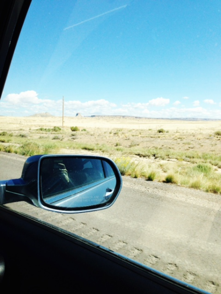 Road trip to Utah. Somewhere near Shiprock, NM.