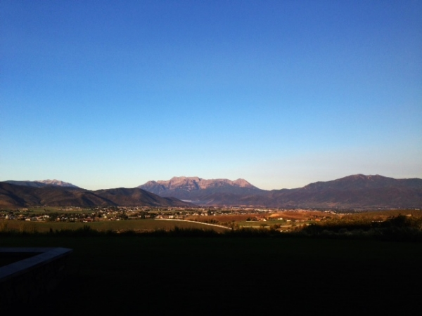 Morning view of Timp from Heber.