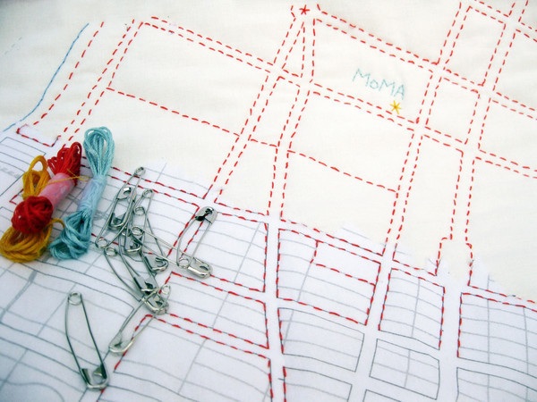 NYC DIY city quilt kit,  photos via Haptic Lab
