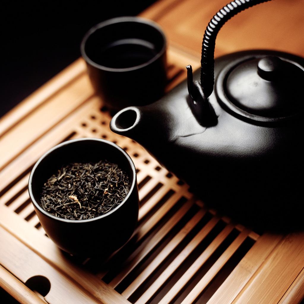 Jasmine Tea & Black Teapot
