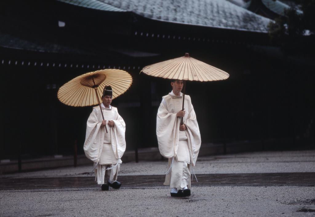 Shinto Priests, Meiji Shrine, Tokyo