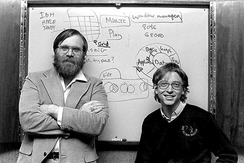 Paul Allen & Bill Gates, Microsoft's early days, 1982