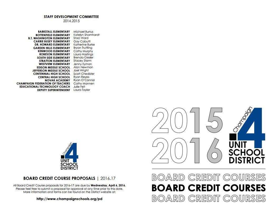 Unit 4 Board Credit Course Guide