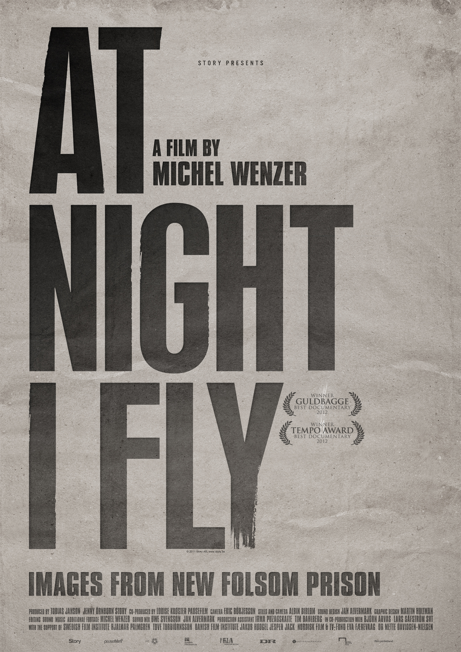 At Night I Fly, Official Poster, 70x100 cm