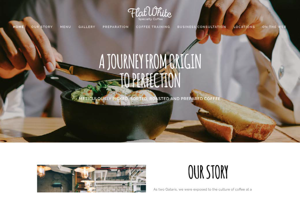 Website Design - Client: FlatWhite Speciality Coffee