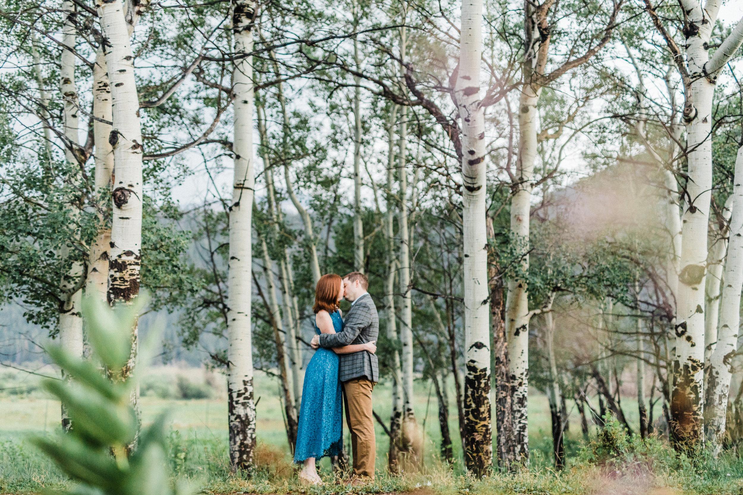 Emily & Andrew  An Engagement Session. Rocky Mountain National Park. Estes Park, Colorado