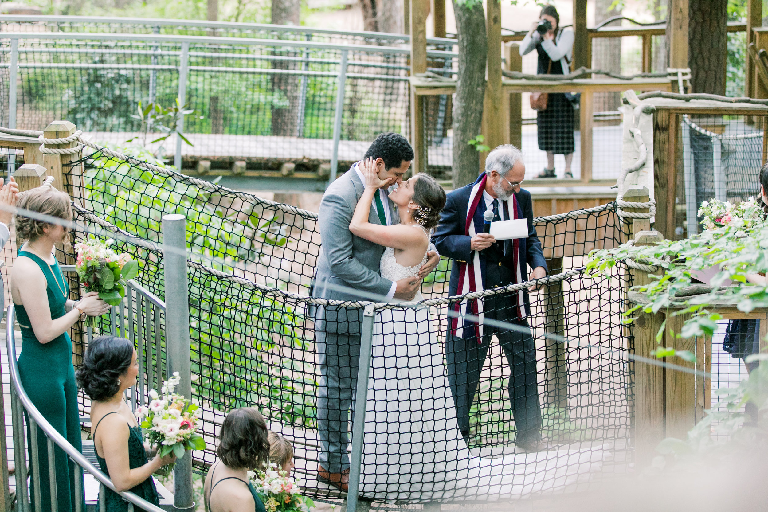 Eleanor & Jalal  A treetop wedding at the Museum of Life and Science. Durham, NC