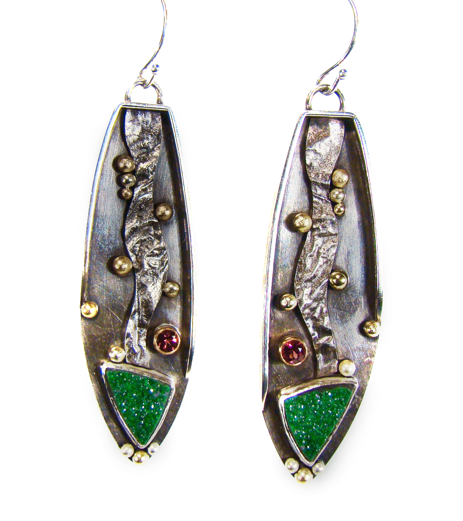 Green Druze Earrings #839.jpg