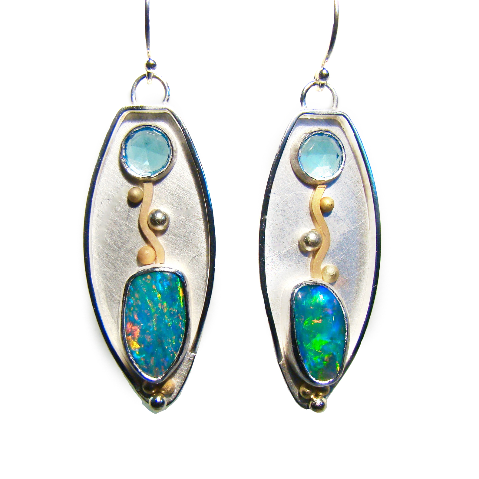 Topaz opal earrings #860.jpg