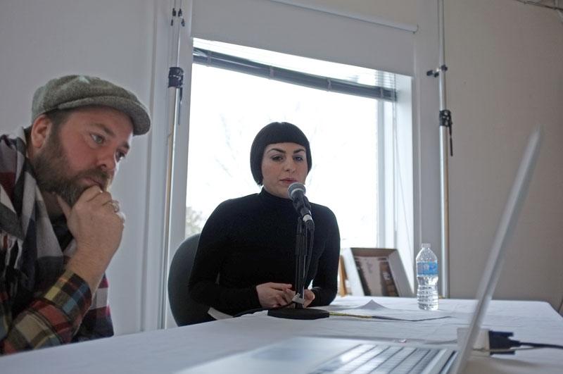 Members of the Emerging Lens-Based Artist panel: (from left) Johan Hallberg-Campbell and Rah Eleh.